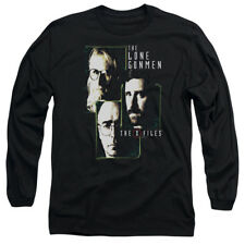 The X Files LONE GUNMEN Licensed Adult Long Sleeve T-Shirt S-3XL