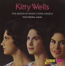 KITTY WELLS - Queen Of Honky Tonk Angels Four Original Albums 2cd - 2 CD - VG