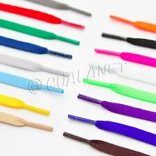 FLAT NEON Colored Shoelaces Sport Shoe Strings Athletic Sneakers Boot Wide Laces