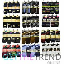 6,12,24 Pairs Mens Socks Designer Coloured Suit Work Footwear Lot Adults UK 6-11