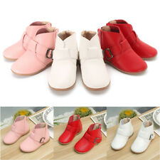 Kids Girls Boys Toddler Ankle Boots Low Heel Flat Round Toe Soft Soft Shoes