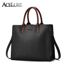 ACELURE Retro Women Leather Handbags Messenger Bag Women Casual Trunk Tote Bag
