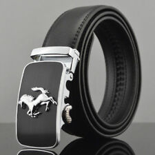 Fashion Casual Mens Belts Automatic Buckle Genuine Leather Waistband Strap Horse