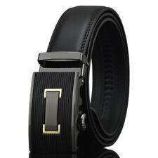 Simplism Business Casual Mens Belts Automatic Buckle Genuine Leather Waistband