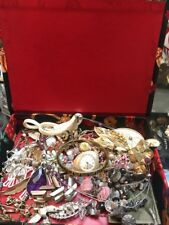 Antique Vintage Junk Drawer Jewelry Lot Estate Sale Find And box
