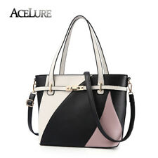 ACELURE Women Leather Shoulder Bag Handbag Women's Casual Tote Patchwork Bags