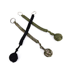 1x 7-strand paracord keychain outdoor camping survival with steel ball