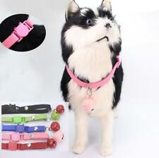 Cute PU Leather Dog Collars Pet Cat Puppy Necklace with bell 5 Colors