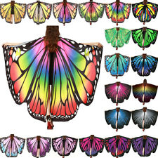 2018 Butterfly Wings Costume Cape Adult Women Teen Girls Halloween Fancy Dress