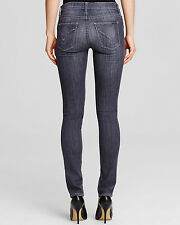NWT HUDSON Denim Shine Obsidian Gray Destroyed Mid-Rise Skinny Jeans 27 $198