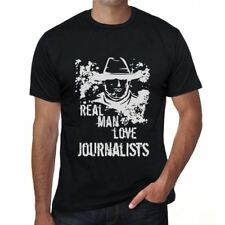 Journalists, Real Men Love Journalists Mens T shirt Black Birthday Gift 00538