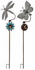 NEW Vintage Style Sunset Vista Found Objects Plant Pick Dragonfly or Butterfly