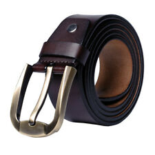 New Retro Luxury Casual Genuine Leather Pin Buckle Mens Belt Waistband Strap