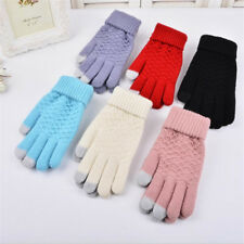 Unisex Smartphone Texting Stretch Winter Knit Magic Touch Screen Gloves Jacquard