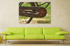 Canvas Poster Wall Art Print Decor Rusty Bicycle Vintage Bicycle