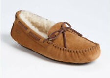 NIB UGG Women's Dakota Suede/Sheepskin Slippers in Chestnut