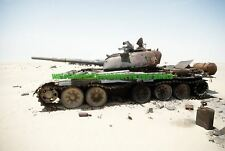 Iraqi T-72 Main Battle Tank Color Photo Military  Desert Storm 1991 Army  War