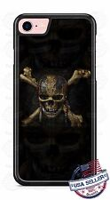 Pirates Skull Skeleton Head Phone Case Cover for iPhone 7 Samsung LG HTC etc