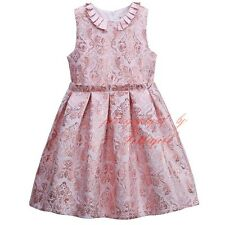 Girl Sleeveless Flower Pleated Princess Party Holiday Pageant Wedding Dress