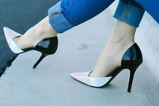 ZARA Combined Leather Stiletto High Heel Shoes Woman Authentic BNWT 38 1213/301