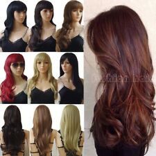 Long Wig Natural Curly Straight Wavy Fashion Women Lady Hair Wig Cosplay Party T