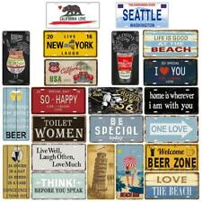 Vintage Metal Tin Sign Poster Plaque Bar Pub Wall Door Home Decor 30x15 cm