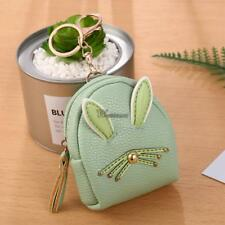 Women Synthetic Leather Cute Rabbit Ear Pattern Coin Purse Wallet with WT88