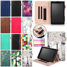 Wake Up/Sleep Flip Leather Kickstand Case Cover For Amazon Kindle Fire 7 / HD 8