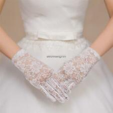 Women Wedding Party Evening Lace Floral Gloves Bridal Gloves Sunscreen FF 01