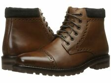 Mark Nason Los Angeles Parker Cap Toe Leather Brown Ankle Boot Sz 11 NEW