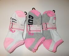 Women's Breast Cancer Awareness Ankle Socks 3 Pairs NWT Various Colors 9-11