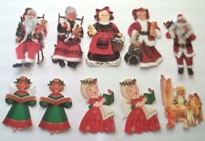 3D-U Pick- NEW 10-17 Christmas Angels Santa Mrs. Claus Scrapbook Embellishment