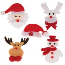 Christmas Themed Plush Applique Patch for Xmas Clothes Backpacks Stocking Decora