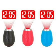 Mini Portable LCD Projector Digital Clock Projection Clock Keychain Kids Toy