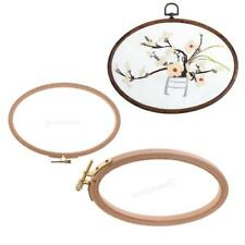 Wood Ring Wooden Embroidery Tools Cross Stitch Crafting Frame with Threaded Hoop