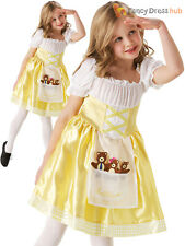 Girls Goldilocks Costume Childs Fairytale Fancy Dress Kids Book Week Day Outfit
