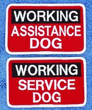 "Working Assistance Service Dog Patch 2.5X4""  Medical Support Assistance"