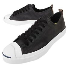 Converse Jack Purcell Rubberized Jack Black White Canvas Mens Casual 151483C
