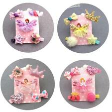 5 Assroted Elfin Princess Doll Butterfly Hair Clips Bows Star Heart Girl's Pins