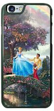 Disney Cinderella and Prince Charming on bridge phone case cover for iphone htc