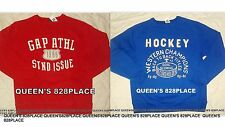 Nwt Gap Kids Boys size 14-16 XXL Blue Hockey or Red Logo Sweatshirt Sweater New