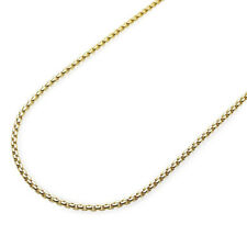 14K Yellow Gold 2mm Round Box Link Chain Necklace 18-26""