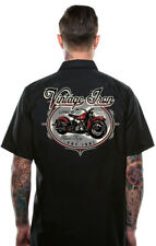 Lucky 13 Button Up Work Mechanic Shirt Vintage Iron Motorcycle Hot Rod