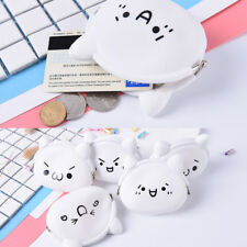 Cute Face Ladies Kids Silicone Coloured Coin wallet Jelly Purses Jewelry Key Bag
