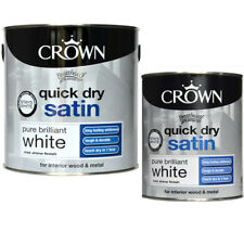 Quick Dry Satin Paint Pure Brilliant White 2.5L Interior Exterior Wood & Metal P
