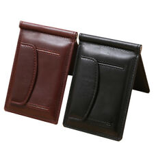 Men Wallet Leather Money Clip Wallet Leather Clamp For Money Crad Holder Purse