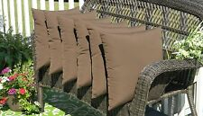 Set of 6 Decorative Throw Pillows -- Indoor Outdoor Fabric - Choose Solid Colors