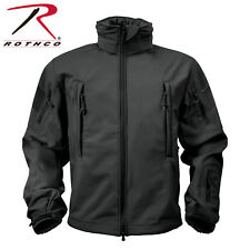 Rothco Special OPS Tactical Soft Shell Jacket w Waterproof Shell, BLACK