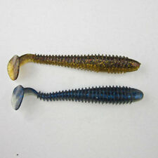 T shape Tail Fishing Soft Swimbait Shad For Bass Pike Walleye Soft Worm Silicone