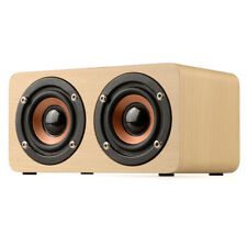 Wooden HIFI Bluetooth Speaker Wireless 3D Stereo Dual Shock Bass Speakers AT1